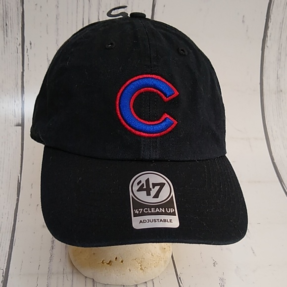 buy popular 2bdfb e6f86 Cubs MLB Core  47 Clean Up Black Hat New With Tags